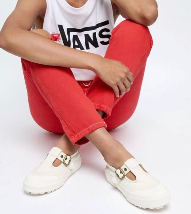 Authentic Vans Exclusive White Mary Jane Style 93 Trainers Vans Mary Janes Shoes