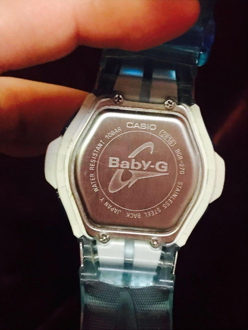BABY G BLUE WATCH - TOUCH SOLAR CHARGE
