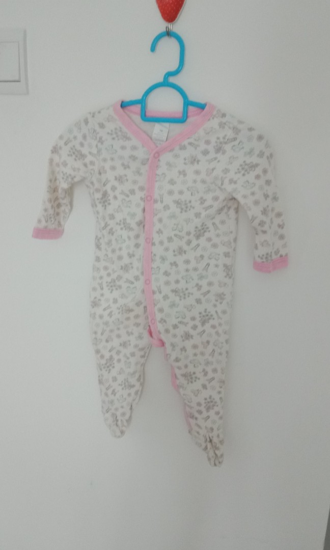 Girls' Clothing (newborn-5t) 2 X Baby Girl Babygrow/sleepsuits Up To 1 Month