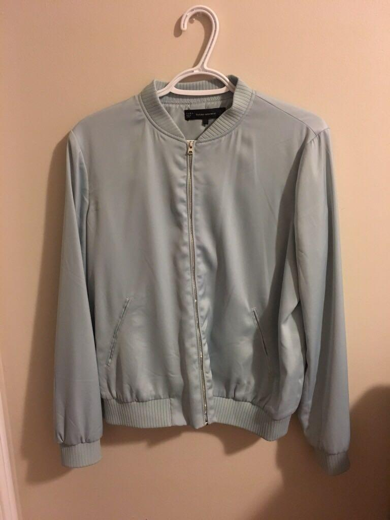 Baby/Light Blue Zara Bomber/Windbreaker Jacket