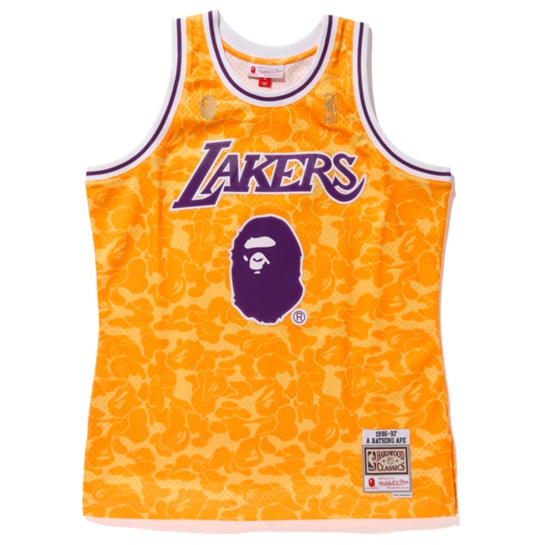 e710871a BAPE X Mitchell & Ness ABC Basketball Jersey TankTop, Men's Fashion ...