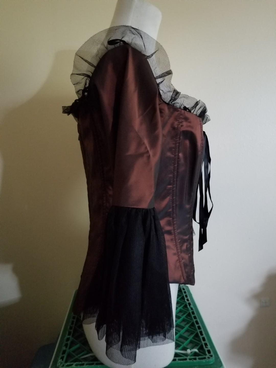 Baroque Style Corset Pirate Top*Goth*Halloween*