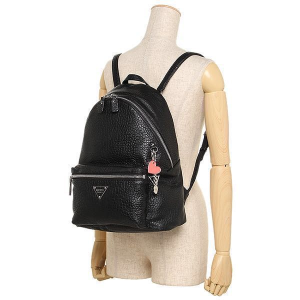 23cfbaa2d459 BNWT GUESS 1981 COOL SCHOOL LEEZA BACKPACK BLACK 2016 Design PB663332 Black  Leather Backpack
