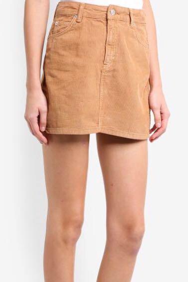 6fc3000f9 BNWT] TOPSHOP Petite Camel Corduroy Skirt, Women's Fashion, Clothes ...