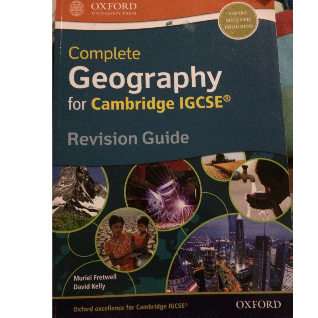 (BRAND NEW) Cambridge IGCSE Geography Revision Guide Book