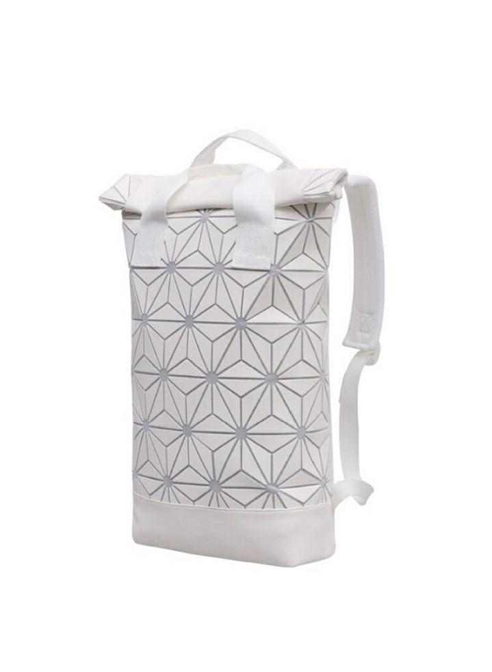 ed9bfb67ba BRAND NEW Matte White Mesh Adidas x Issey Miyake BAOBAO Inspired Geometric  Rhombic Roll Up Top Rucksack Backpack   School Bag   Diaper Bag