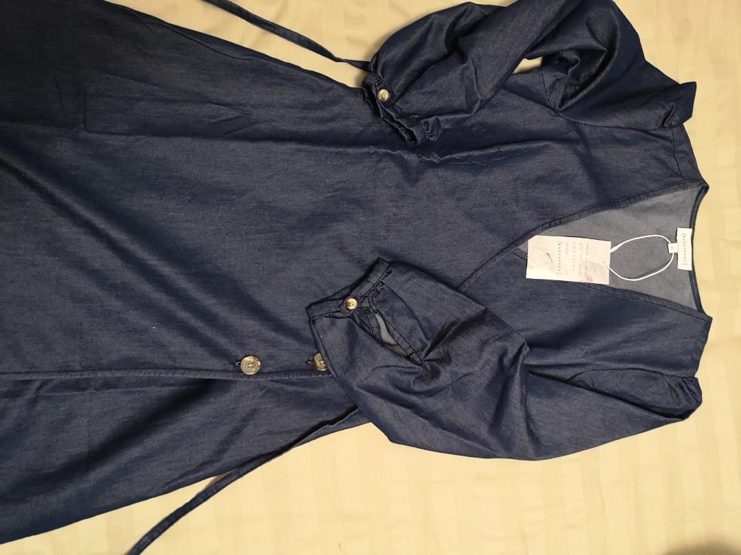 9a97931f0be Warehouse Button Detail Denim Dress - Gomes Weine AG
