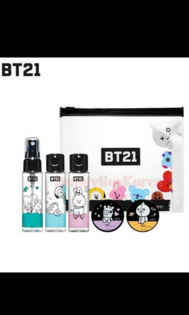 BT21 kosmetik container kit 5ea