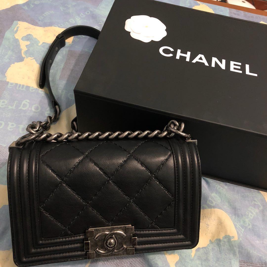 16b0a84adefdd1 Chanel Boy Small, Luxury, Bags & Wallets, Handbags on Carousell