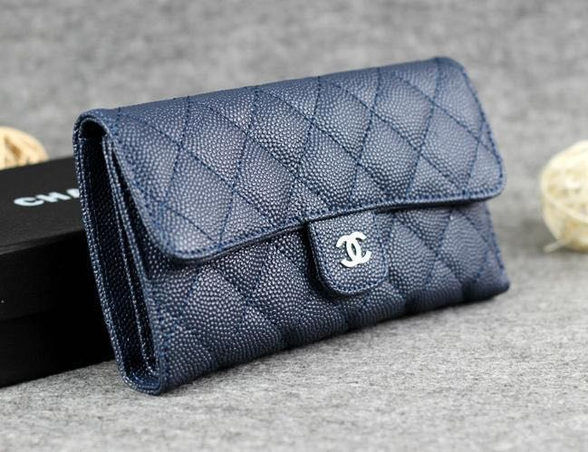 60530cf7fbf2 Chanel Classic Small Flap Wallet in Navy, Women's Fashion, Bags ...