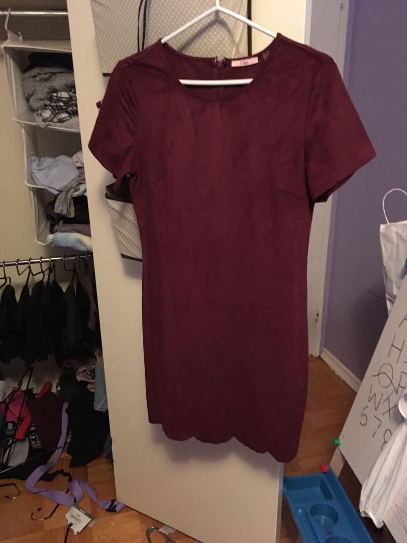 Dex suede dress