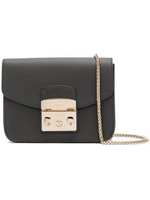 cef87a8ba Furla Metropolis Mini Shoulder Bag - Black, Luxury, Bags & Wallets ...