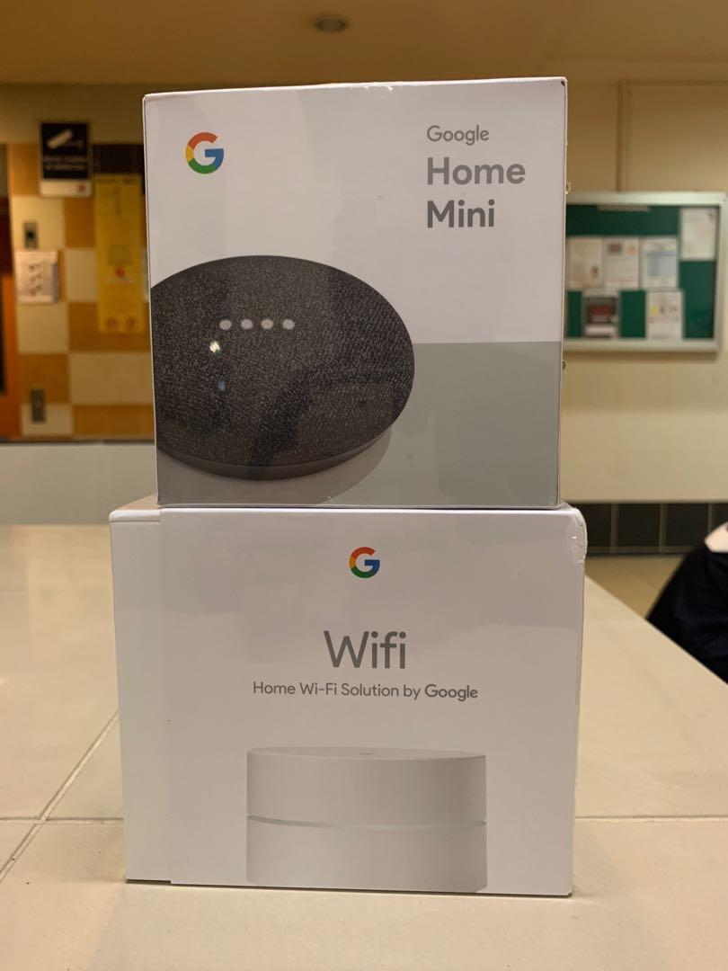 Google Wifi Router x Home Mini, Electronics, Others on Carousell
