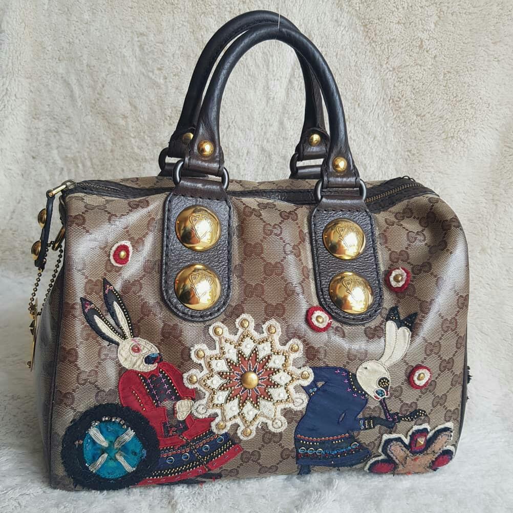 24619bb1c47db9 Gucci Babouska Boston Bag, Luxury, Bags & Wallets on Carousell