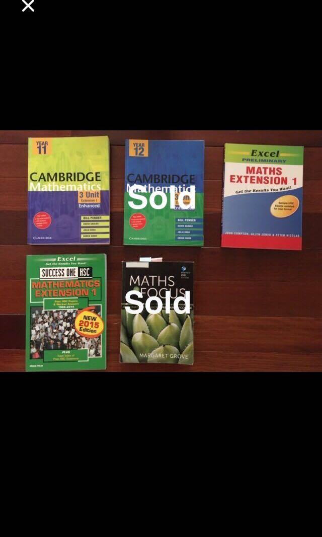 HSC Extension Math Textbooks
