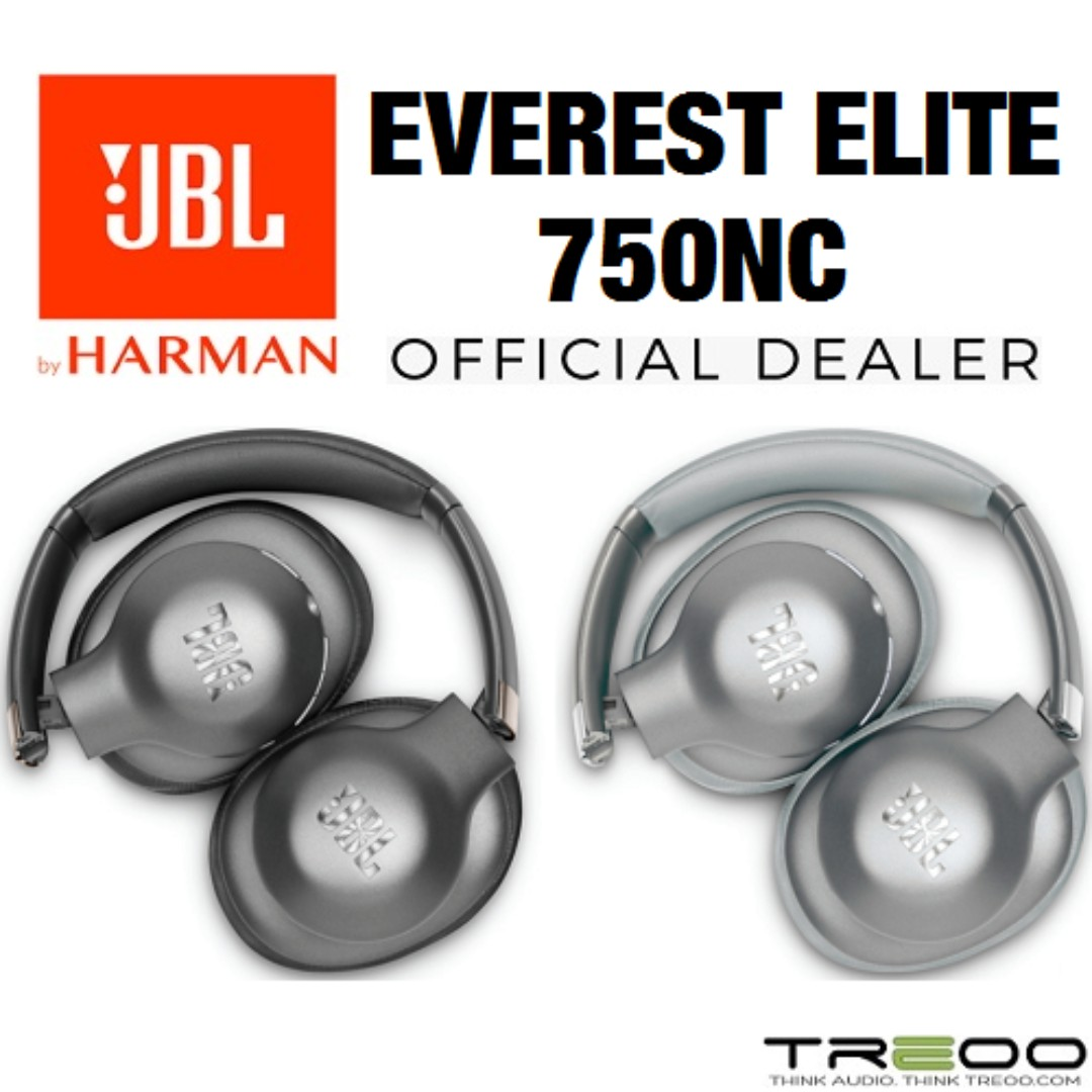f9dd78fef84 JBL Everest Elite 750NC Wireless Bluetooth Noise-Cancelling Over-the-Ear  Headphone with Microphone, Electronics, Audio on Carousell