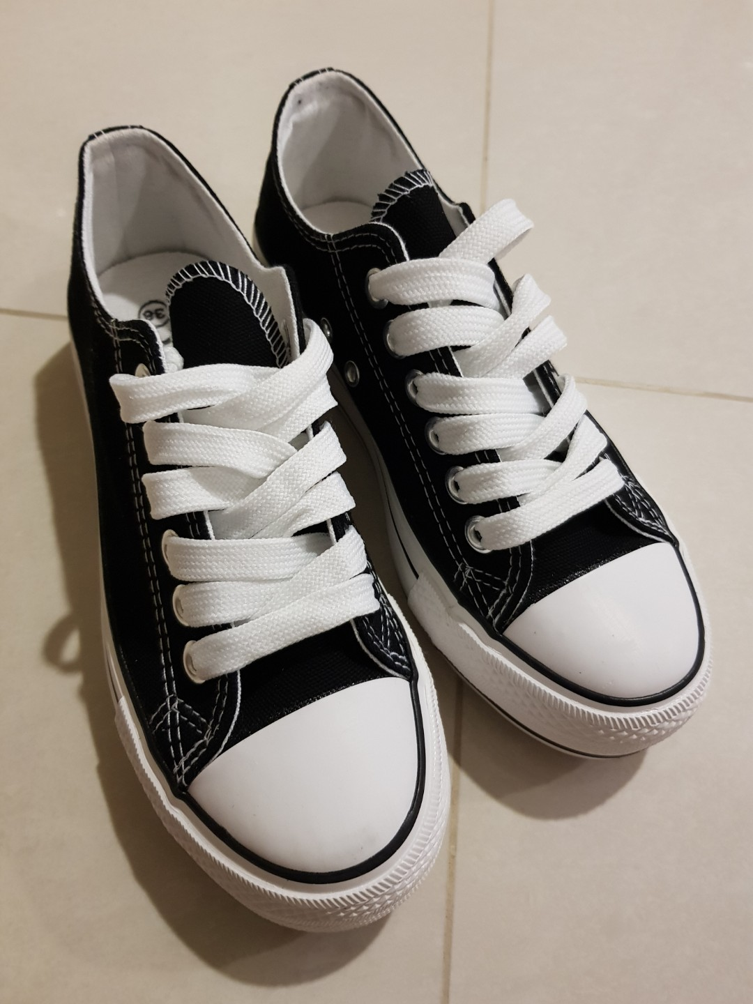 532d22255243 Like Converse High Sole Black Canvas Shoes