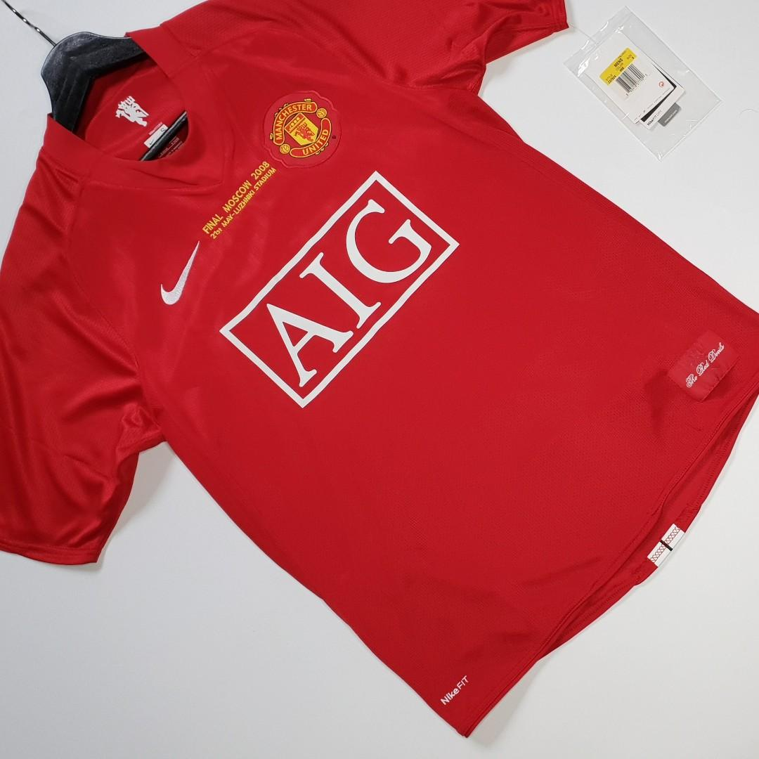 sold new nike manchester united 2008 champions league final jersey shirt sports sports apparel on carousell carousell