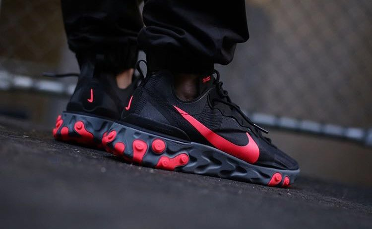 bc778d1907a5 Nike React Element 55 Black   Solar Red (not 87)