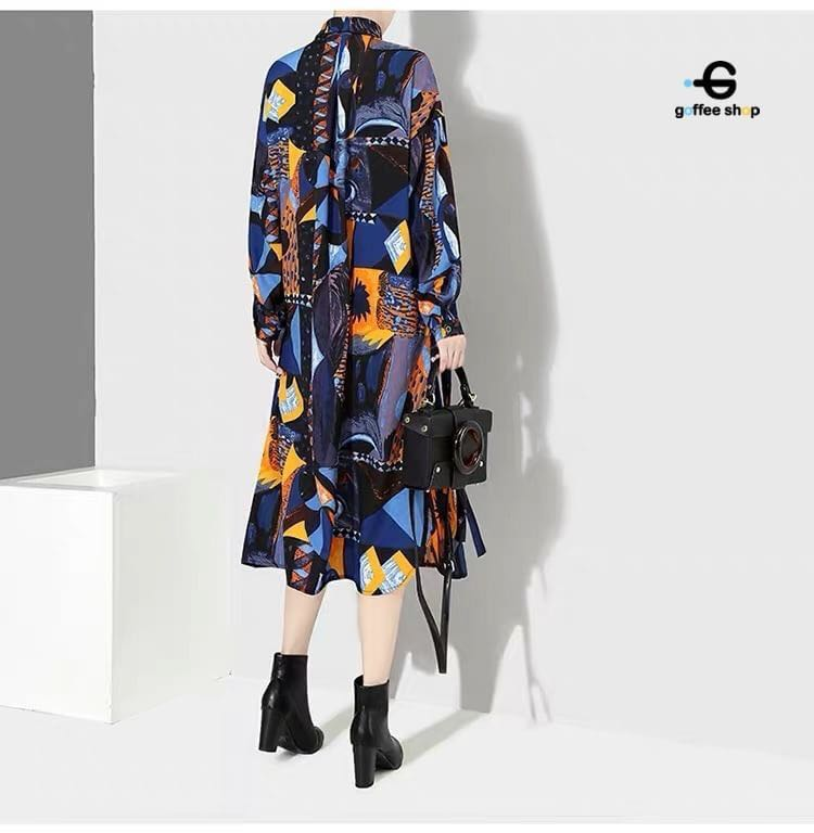 2ee62a1b85ef Oversize shirt dress with long sleeves, A-line fabric, nice graphic design  with side pocket, Women's Fashion, Clothes, Dresses & Skirts on Carousell