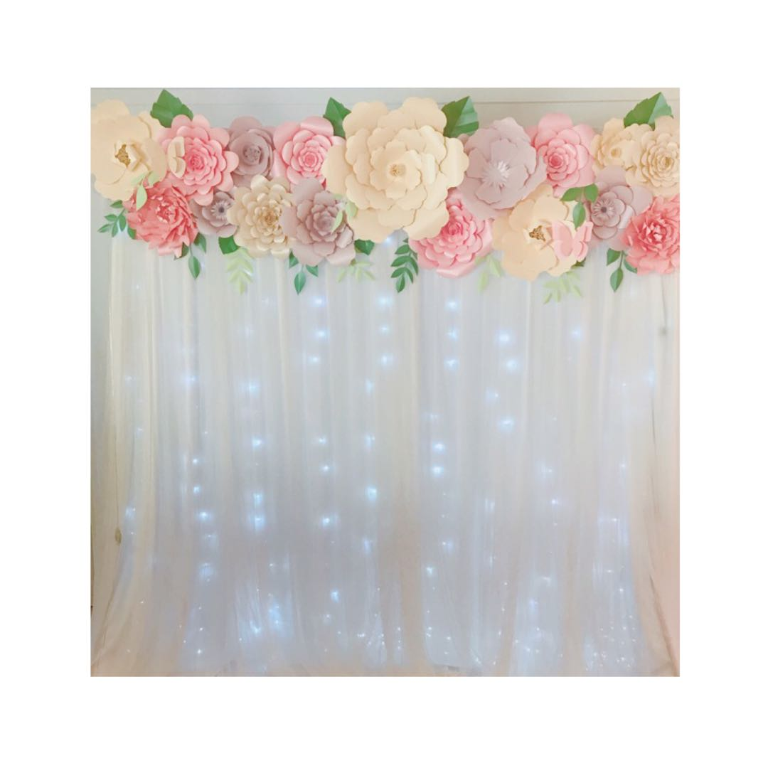 Paper Flowers Backdrop Design Craft Handmade Craft On Carousell