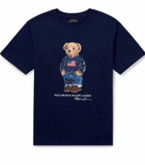 6fed8668 Polo Ralph Lauren Bear T-Shirt, Luxury, Apparel, Kids' on Carousell