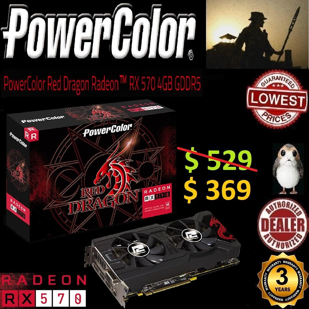 POWERCOLOR RX 570 RED DRAGON 4GD5 OVERCLOCKED (3Y
