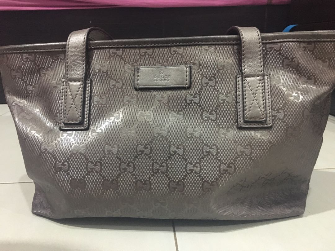 0200524c79d76f Pre-Loved Gucci GG Imprime Tote Bag, Women's Fashion, Bags & Wallets ...
