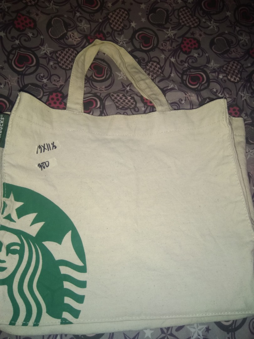 2b6bb61691b Preloved Starbucks Canvass bag, Luxury, Bags & Wallets on Carousell