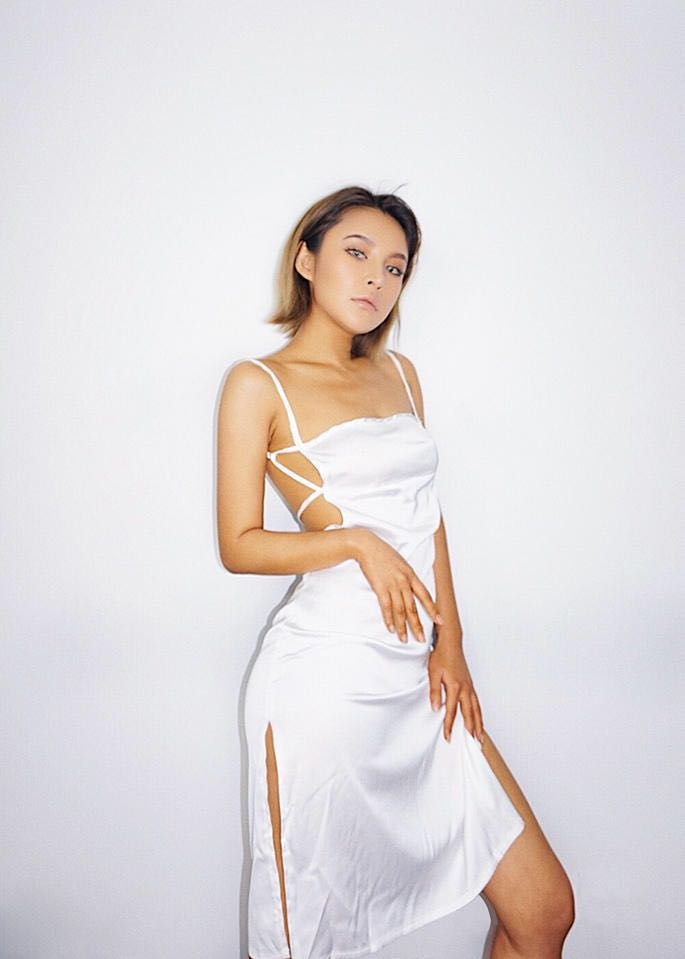 3704cb658f2df Selling Backless Slipdress in White, Women's Fashion, Clothes, Dresses &  Skirts on Carousell