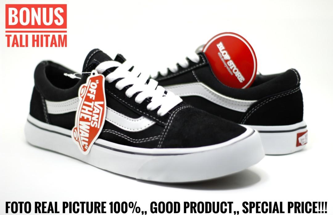 b97b203a23 Sepatu Old School Hitam Putih Clasic  Cowo-Cewe Import Vietnam ...