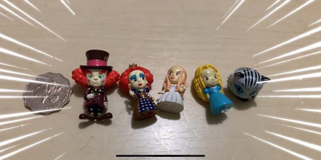 愛麗絲夢遊仙境擺件一set 5件