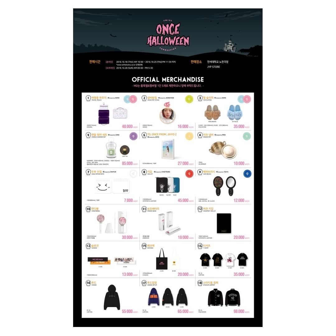 TWICE FANMEETING ONCE HALLOWEEN OFFICIAL MERCHANDISE