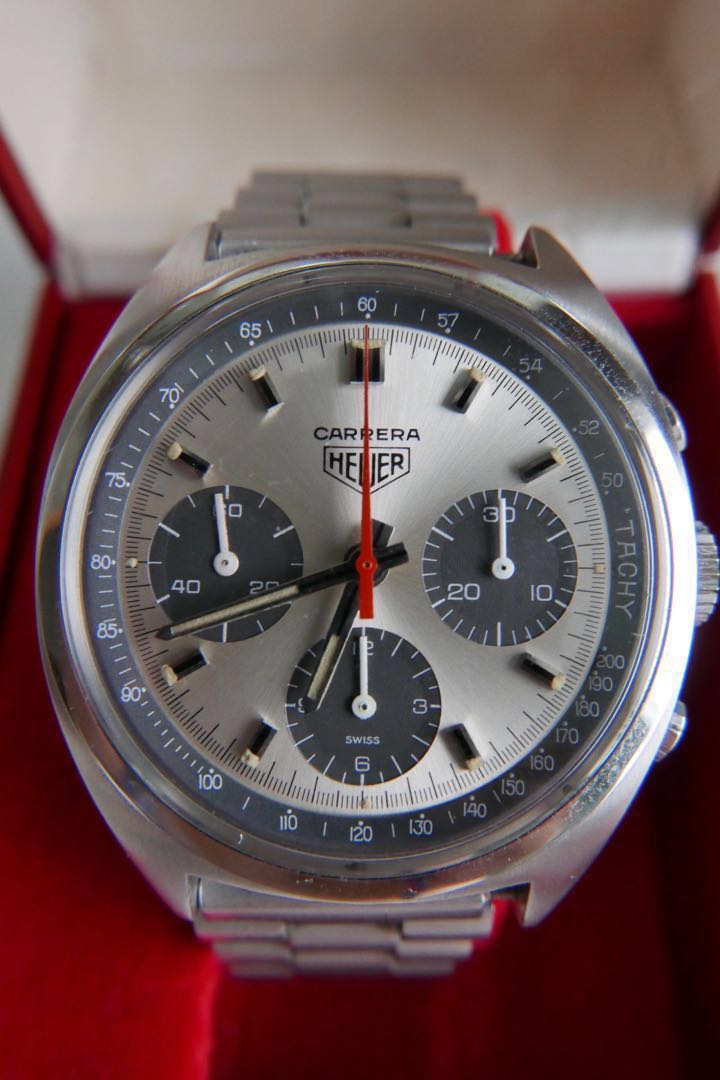 75c80a849254 Vintage 1970 Heuer Carrera 73653 Chronograph