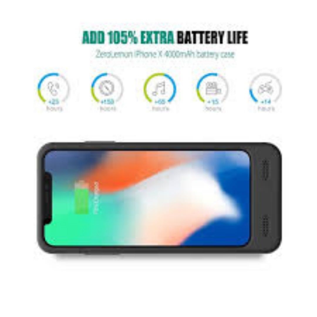 outlet store eaa33 98bb1 ZeroLemon 4000mAh Battery Case for iPhone X