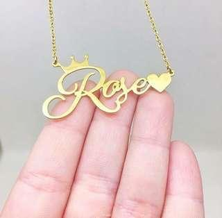 Non Tarnish Personalized Name Necklace