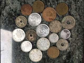 戰前 日本 錢幣 18個