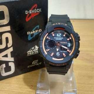 Jam Tangan Gshock Cewek/Anak BGA-230 Gold