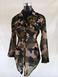 Camouflage Mesh Long Sleeve