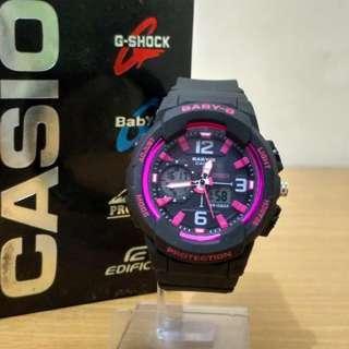 Jam Tangan Gshock Cewek/Perempuan BGA-230 Black Pink