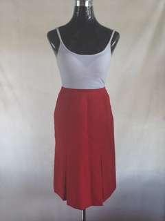 Red Corporate Skirt