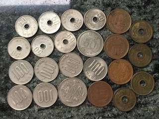 日本錢幣 23個 昭和年號 有1500円左右