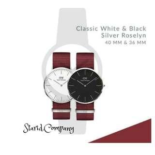Daniel Wellington Classic White & Black Roselyn - Gold / Silver
