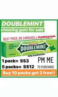 DOUBLEMINT chewing gum for sale