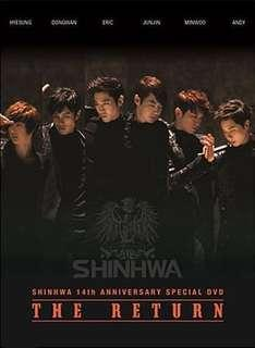"[WTS] Shinhwa 14th Anniversary Special DVD ""The Return"" (2DVDs + Photobook)"