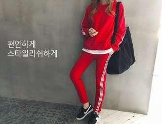 🚚 韓國休閒系三線條套裝