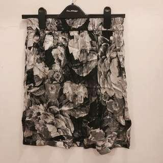 Zara silk floral Skirt