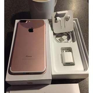 iPhone 7Plus 256gb Rosegold Openline to all sim.