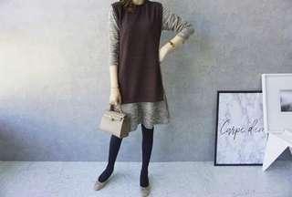 🚚 韓國真兩件式魚尾連身裙洋裝