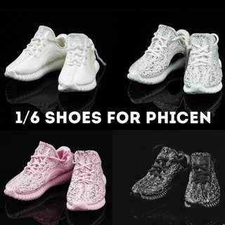 1/6 Fashionista Track Shoes / Stylish Sport Shoes [for male & female Phicen TBLeague Hottoys Kitbash]